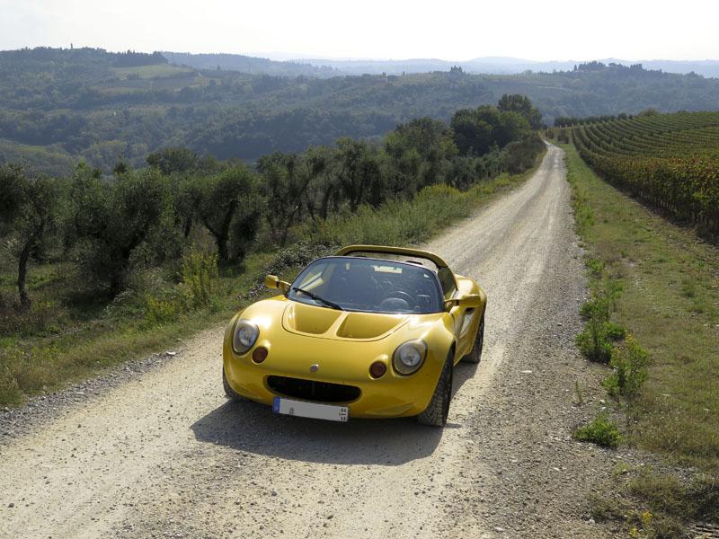 Lotus Elise in der Toskana (Chianti)