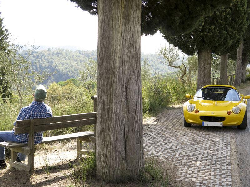 Sonnenbad bei Abazia di Monte Oliveto Mag.