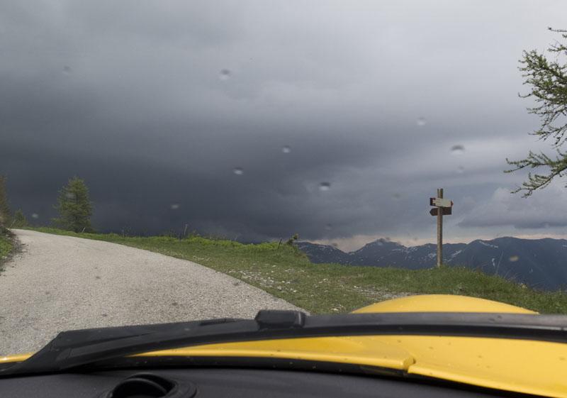 Zum Passo di Sampeyre im Regen
