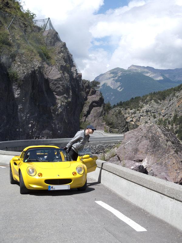 Lotus Elise Route des Gandes Alpes