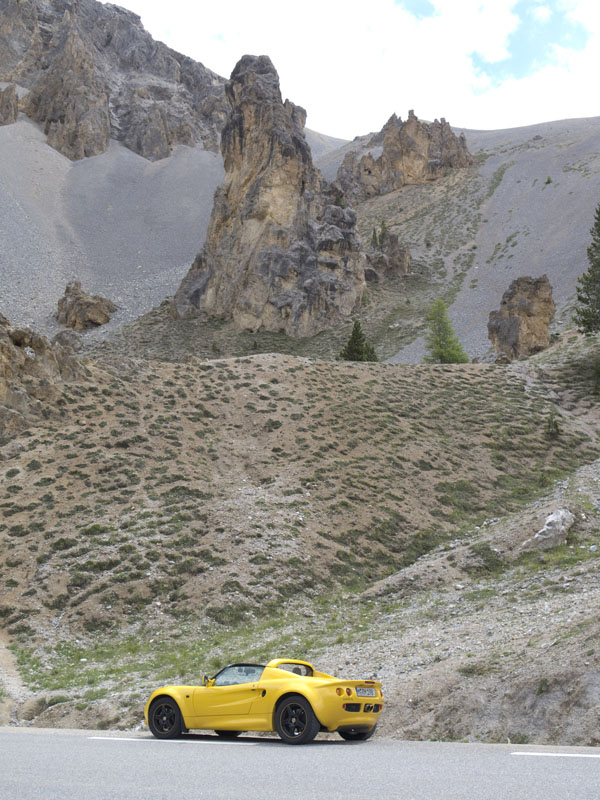 Lotus Elise am Col d'Izoard