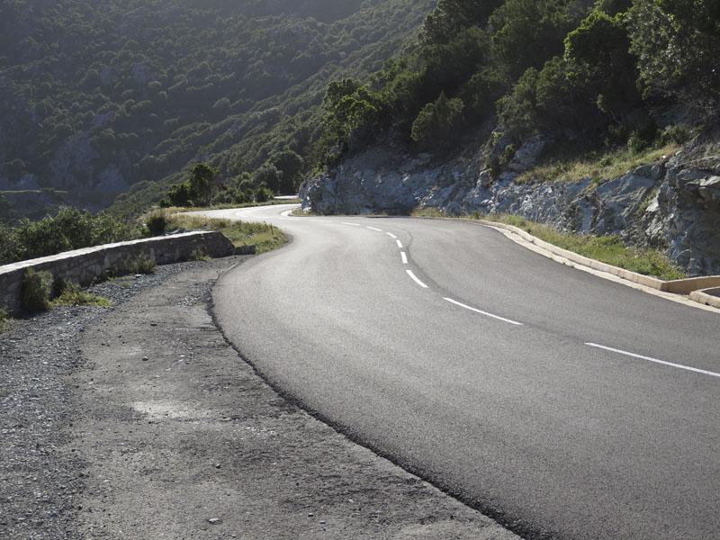Straße am Cap Corse