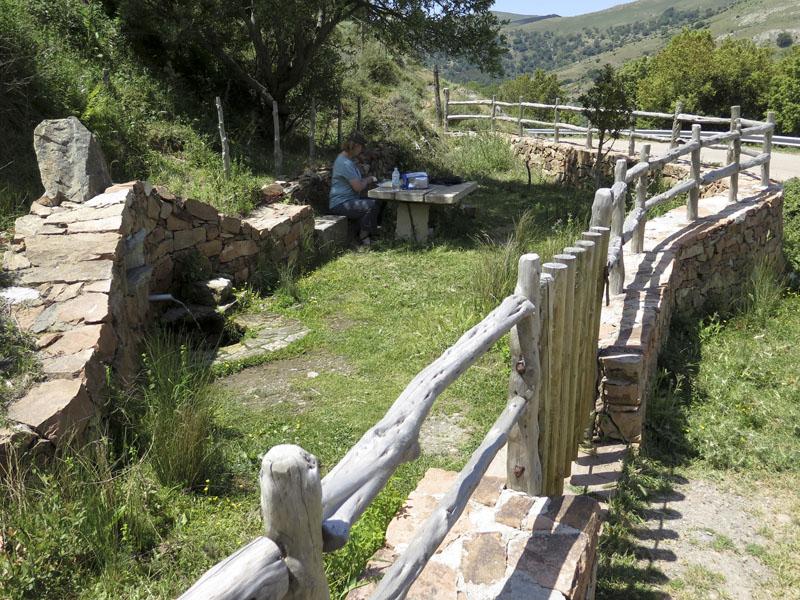 Mittagspause in der Nähe des Passo di Correboi