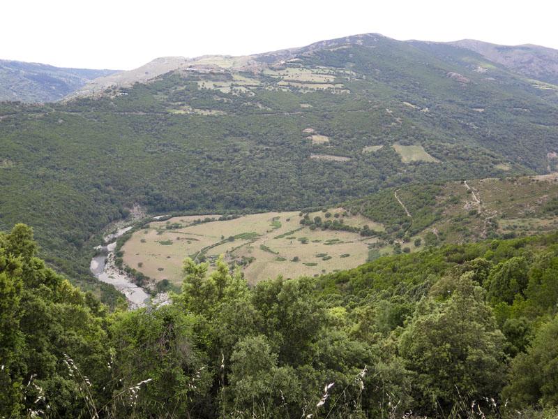 Ausblick von der SP8 zwischen Gadoni und Seulo