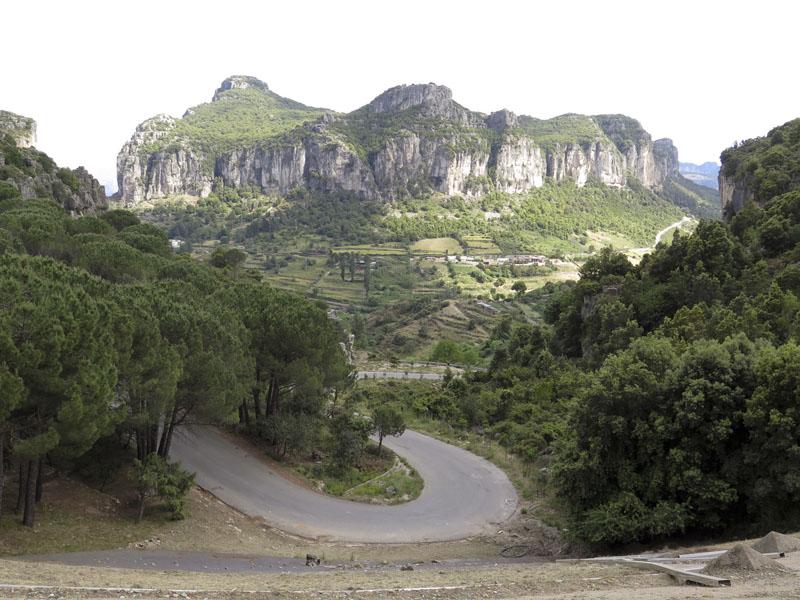Ausblick vom Parkplatz der Grotte su Marmuri