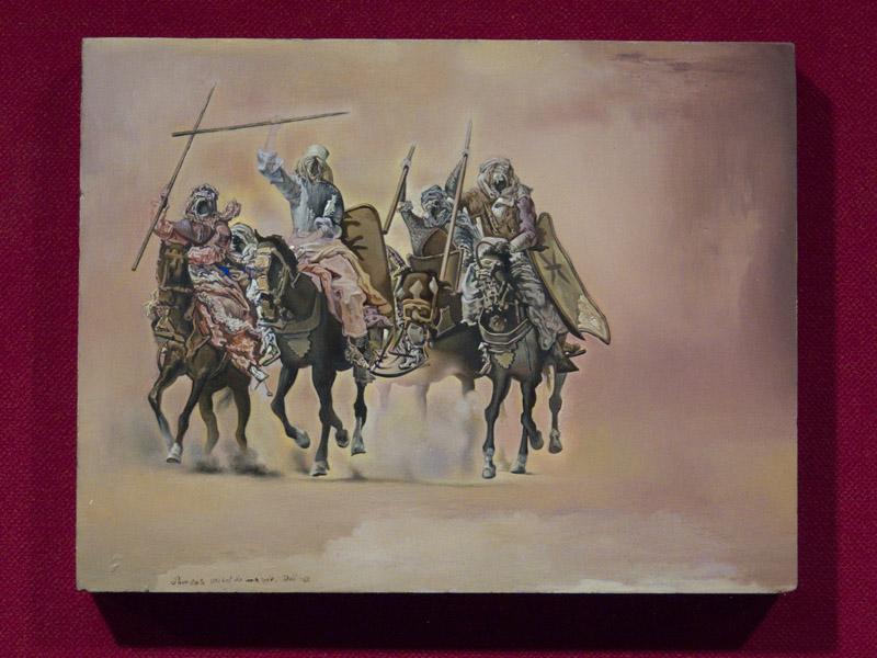 """Dali - Étude pour """"La bataille de Tétouan"""""""