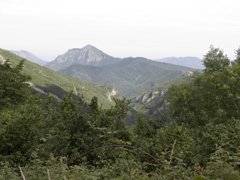 SP216 bei Capruna - Blick Richtung Süden
